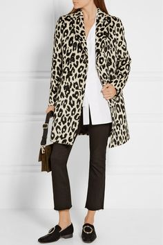 101742cf8ccb Burberry - Plaistow leopard-print llama hair and wool-blend trench coat