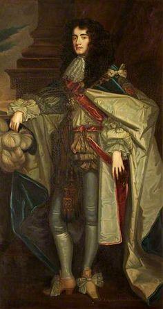 James Scott (1649–1685), Duke of Monmouth, in Garter Robes  by Peter Lely