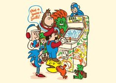 Real Life: The Worst Arcade Game Ever! Pacman, Super Mario Brothers, Donkey Kong, Sonic the Hedgehog, Link from Zelda, et al.