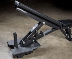 The latest reincarnation of our heavy-duty adjustable bench; Get yours at Rogue today! Fitness Gym, Rogue Fitness, Bodybuilder, Adjustable Weight Bench, Incline Bench, Stairmaster, Setting Option, Laser Cut Steel, Weight Benches