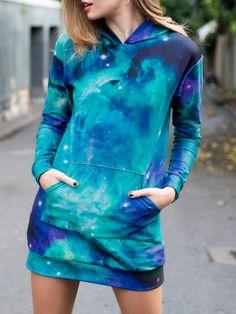 Galaxy Teal Slouchy by Black Milk Clothing Galaxy Outfit, Galaxy Hoodie, Galaxy Fashion, Cool Outfits, Fashion Outfits, Gothic Fashion, Cocktail Dresses Online, Dresses Online Australia, Black Milk Clothing