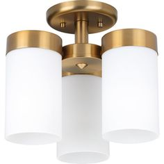 Progress Lighting Elevate 3 Light Semi Flush Mount Finish: Brushed Bronze