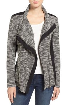 Two by Vince Camuto Two by Vince Camuto Asymmetrical Mixed Media Jacket available at #Nordstrom