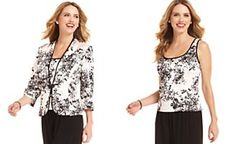 Alex Evenings Jacket Set, Three-Quarter-Sleeve Floral-Print
