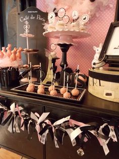 Parisian French Dessert Table - I am obsessed with Paris baby showers!!
