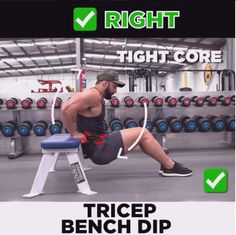 TRICEP DIPS Right