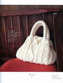 Tita Carré - Agulha e Tricot : Bolsa em tricot com motivos de cordas