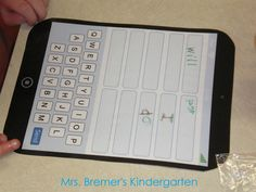 Students are texting their sight words on iPhones, typing words onto iPads, and arranging their iPod playlists in alphabetical order.