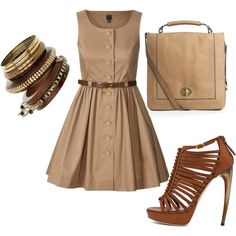 Safari Chic, created by barbieprincess92 on Polyvore  The shoes are $1,515. Outfit $2,169.    $1515.00