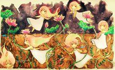 little Lotus girls by hyamei.deviantart.com on @deviantART