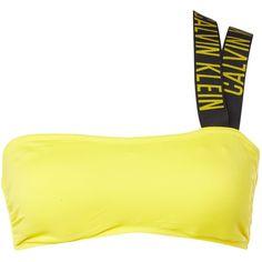 Calvin Klein Intense power V bandeau bikini top (€38) ❤ liked on Polyvore featuring swimwear, bikinis, bikini tops, clearance, yellow, yellow bandeau top, bandeau top bikini, calvin klein swimwear, yellow bikini top and bandeau top