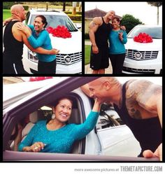 The Rock, repaying his mother…
