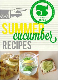 splendid actually: 3 Cucumber Recipes