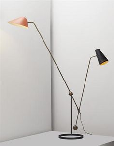 "Pierre Guariche, Adjustable ""Equilibrium"" floor lamp, 1951."
