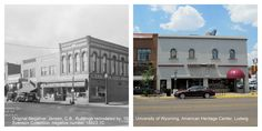 The picture to the left shows the Gem City Grocery store. The store was named Gem city after the town of Laramie earned this name as being a gem of a town. The building was remodeled around 1931 by C.B. Jensen and clearly, remodeled again at a later date. The music box is located there now, with a very different exterior. Check out the American Heritage Center's collections to see more of Laramie's past.
