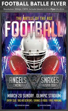Football Battle Flyer