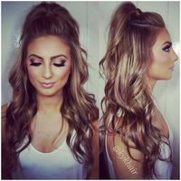 Quick and easy half up half down hairstyles easy hair style and easy half up half down hairstyles 2016 solutioingenieria Images