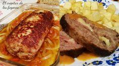 Una exquisita receta de carne picada rellena de jamón y queso. Fácil de preparar y sabrosa de cualquier modo: fría o caliente. Ideal para los más pequeños.
