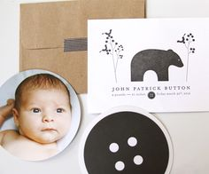 INK+WIT custom birth announcements (letterpress)