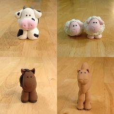 Expressive Creativity: Sculpy - Nativity Holstein Cow, Nativity Sheep, Nativity Horse, Nativity Camel