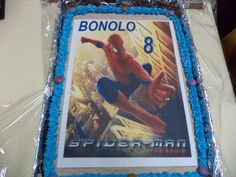 Birthday cake for Bonolo.....  Spiderman cake out very nicely