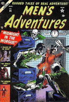 Men's Adventures #26 (Mar '54) cover by Russ Heath. #comics #horror #Marvel