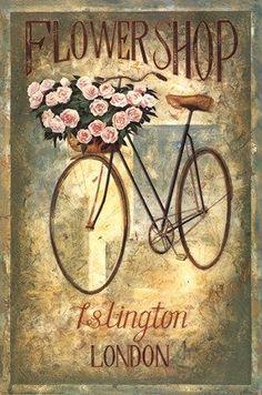 Islington Flower Shop Wholesale Art Print at Lieberman's Decoupage Vintage, Éphémères Vintage, Images Vintage, Vintage Labels, Vintage Ephemera, Vintage Pictures, Vintage Cards, Vintage Paper, Vintage Signs