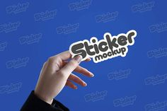 Free Sticker Mockup PSD for Branding 2020 update - Graphic Cloud Effective Marketing Strategies, Hand Sticker, Old Quotes, Mockup Templates, Free Stickers, The Help, Branding, Hand Holding, Graphic Design