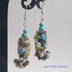 """boucles d'oreilles, perle au chalumeau """"Botanique 9 """" de la boutique AuxPetitsArtistes2 sur Etsy"""