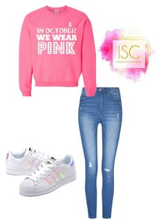 A fashion look from November 2016 featuring pink crew neck sweatshirt, highwaist jeans and adidas originals sneakers. Browse and shop related looks. We Wear, How To Wear, Adidas Originals, Crew Neck Sweatshirt, Fashion Looks, Sweatshirts, Jeans, Sneakers, Polyvore
