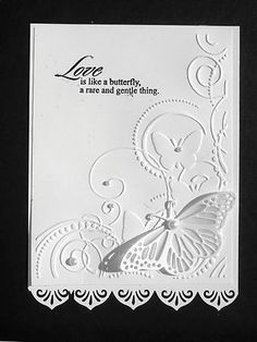 Beautiful Butterflies  Swirls  Embossing Folder + Stampin Up Bonus - Brand new