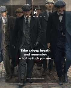 Show them what are made of! #GentlemenSpeak #PeakyBlinders