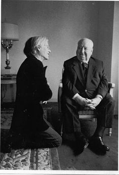 Andy Warhol and Alfred Hitchcock...strange combo!