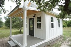This is a tiny house and small cottage combo by Kanga Room Systems in Texas. The main cottage is and the tiny house is Tiny Guest House, Tiny House Cabin, Cottage House Plans, Tiny House Design, Small House Plans, Guest Cottage Plans, Tiny Cabins, Tiny House Office, Guest House Plans