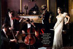 """Drew Barrymore in """"Beauty & the Beast"""" for Vogue, shot by Annie Liebovitz. #Vogue"""
