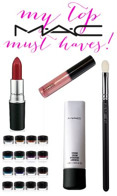 New to the MAC counter? Here's a list of products to start with. You can't go wrong with these!