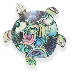 Bali Sea Turtle Paua Shell Sterling Silver Necklace or Pin AzureBella Jewelry. $92.29. Chain included. Handcrafted in Bali. Can also be worn as a pin. Beautiful paua shell inlay. .925 sterling silver