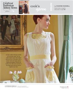 Cook's Apron PDF Pattern (Sew Daily), Project instructions are in Stitch magazine's The Unofficial Downton Abbey Sews issue.