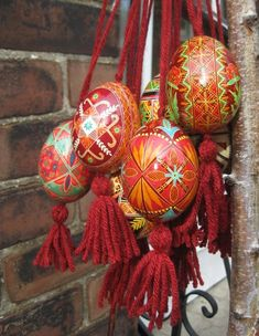 Hanging pysanky are talismans and called Oberih.