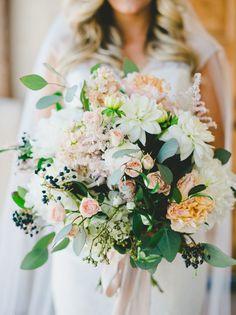 Romantic garden-inspired bouquet