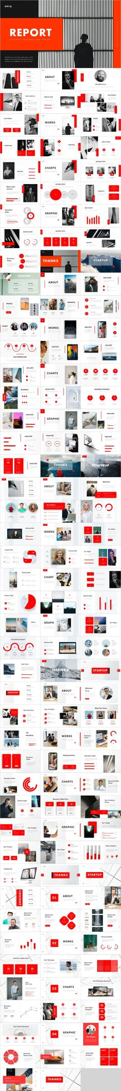 5 in 1 red report presentations – The highest quality PowerPoint Templates and Keynote Templates download Jeopardy Powerpoint Template, Best Powerpoint Presentations, Powerpoint Presentation Slides, Professional Powerpoint Templates, Business Presentation, Powerpoint Presentation Templates, Keynote Template, Presentation Design, Business Company