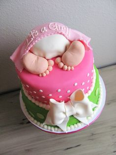 Baby Shower Cakes For Girls | Baby Bottom Baby Shower Cake