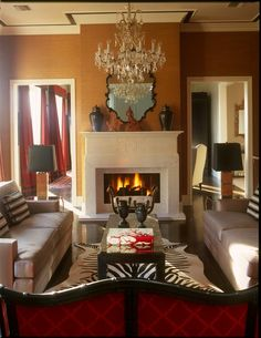 Living room for House Beautiful design by David McCauley Interior Design
