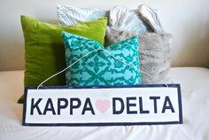 Wooden Kappa Delta Sign-Brandy Melville Inspired- Big Little Reveal- Initiation…
