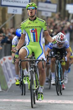 Tirreno-Adriatico 2014 - Peter Sagan celebrates his stage win!