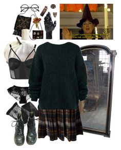 """""""halloween"""" by paper-freckles ❤ liked on Polyvore featuring Emporio Armani, Mina UK, Topshop, Acne Studios, D.L. & Co., NewbarK, Flamant and Retrò"""