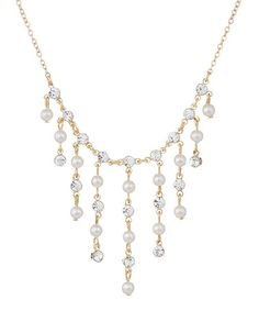 Another great find on #zulily! Gold Drip Necklace Made With SWAROVSKI ELEMENTS by Annaleece #zulilyfinds