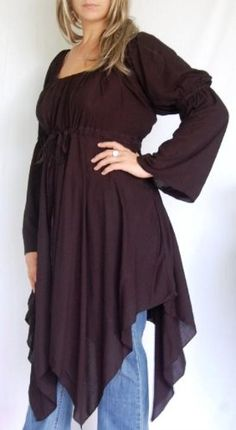 BLACK BLOUSE TOP PEASANT RENAISSANCE FITS. Love, love, love this! Repinned from Heather Thompson via Satu Kulmala.