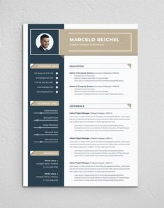 Clean & Modern Resume/cv template to help you land that great job. The flexible page designs are easy to use and customize, so you can quickly tailor-make your resume for any opportunity. Resume Writer, Job Resume, Simple Resume, Modern Resume, Computer Science University, Resume Design, Logo Design, Graphic Design, Cv Template