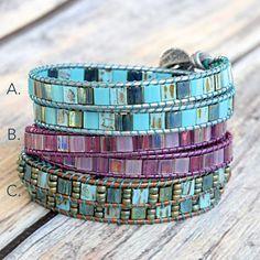 DIY Wrap Bracelets using 2-hole Tila beads – Beadshop.com